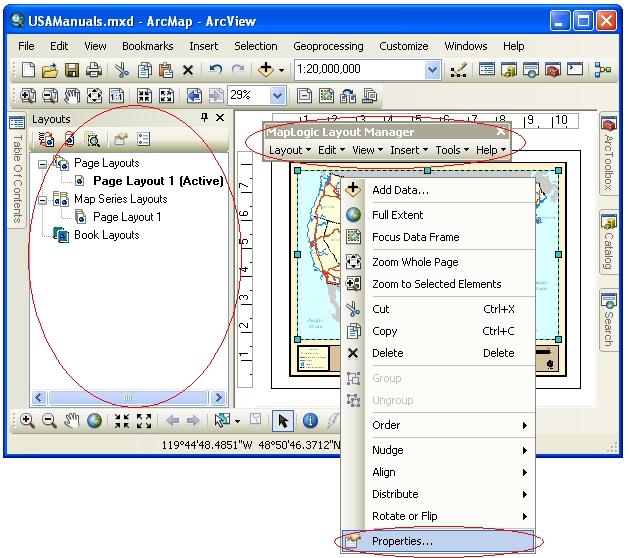 MapLogic Layout Manager